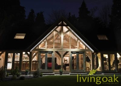 Living Oak Family Barn Night
