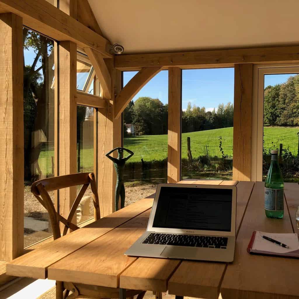Bespoke oak framed office