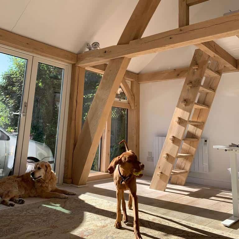 Bespoke oak framed home office