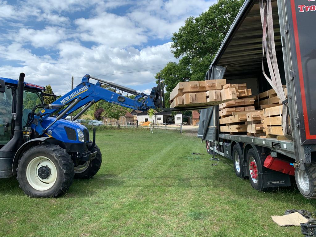 Oak Frame Delivery in Surrey
