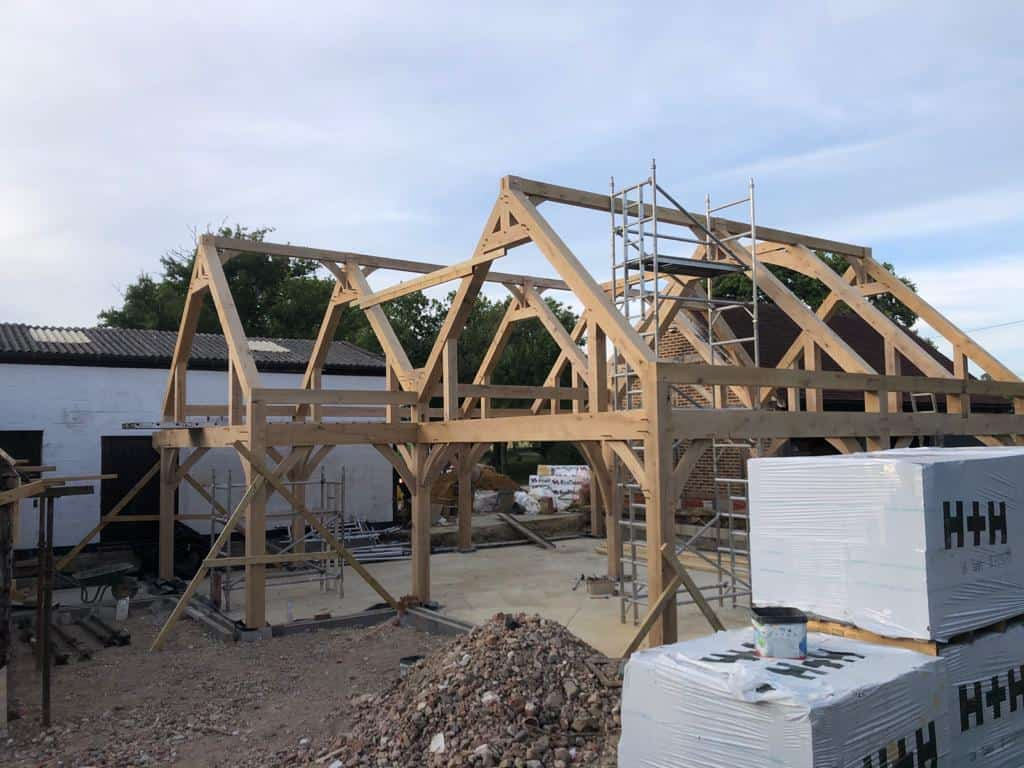 Oak frame building in Surrey